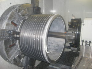 "Large Diameter CNC Turning up to 46"" Diameter and 80"" Long"